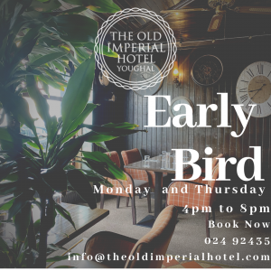 Early Bird Monday and Thursday